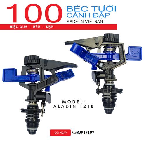 Bộ 100 béc tưới cây aladin 121b màu xanh dương, cánh đập - chỉnh góc