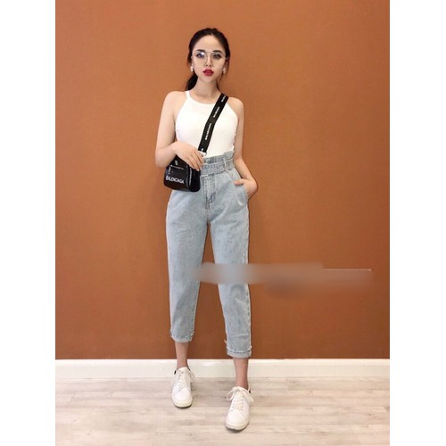Quần baggy jeans nữ trơn trẻ trung - 17375423 , 20596919 , 15_20596919 , 169000 , Quan-baggy-jeans-nu-tron-tre-trung-15_20596919 , sendo.vn , Quần baggy jeans nữ trơn trẻ trung