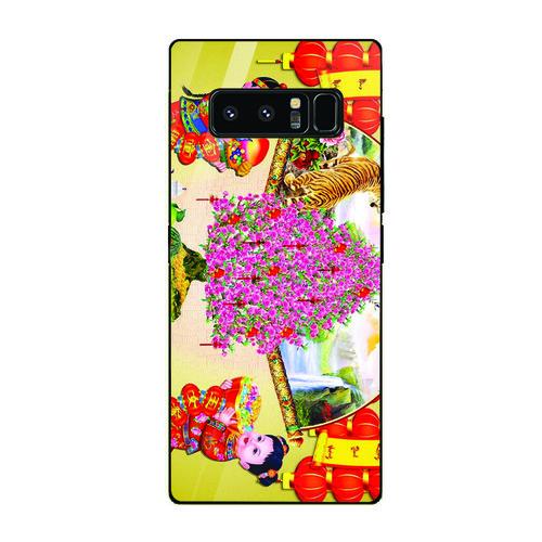 Ốp kính cường lực cho điện thoại Samsung Galaxy Note 9 - Tranh Mai Đào MS MDAO004