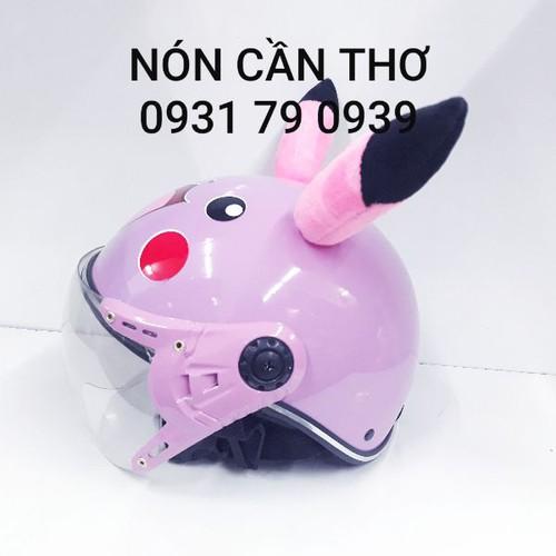 Nón bảo hiểm pikachu cho bé từ 7 tuổi - lớn