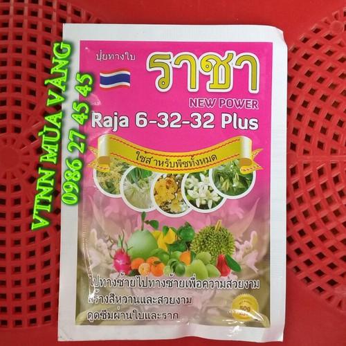 Phân bón npk 6 32 32 + te  thái lan chuyên dùng cho hoa màu và cây ăn quả gói 50g phun 25 lít