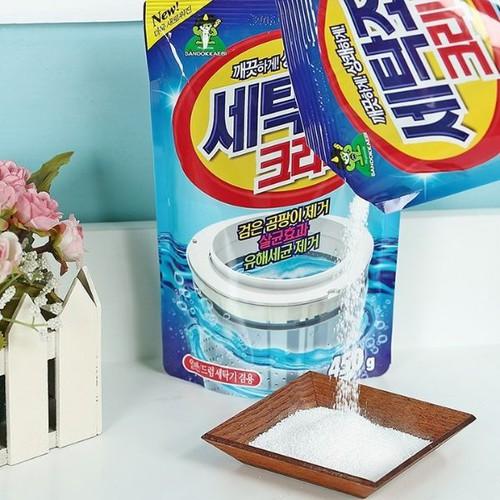 Combo 2 túi bột tẩy vệ sinh lồng máy giặt 450g - 17378959 , 20602596 , 15_20602596 , 100000 , Combo-2-tui-bot-tay-ve-sinh-long-may-giat-450g-15_20602596 , sendo.vn , Combo 2 túi bột tẩy vệ sinh lồng máy giặt 450g
