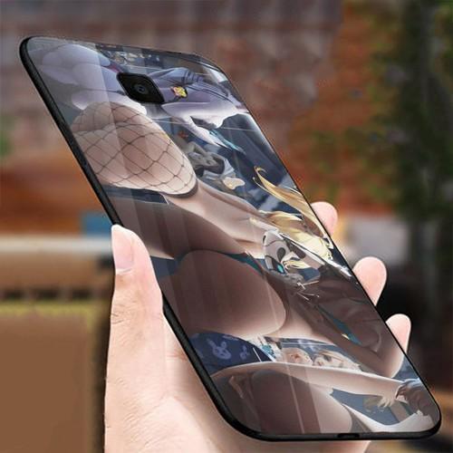 Ốp kính cường lực cho điện thoại Samsung Galaxy J4 PLUS - J4 CORE - mông to MS MONG022