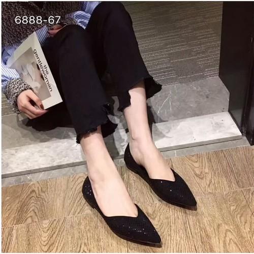 Giày búp bê nữ giày bệt nữ đính đá