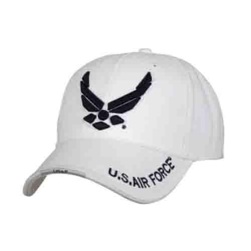 Nón rothco 9154 deluxe u.s. air force wing low profile insignia cap-white