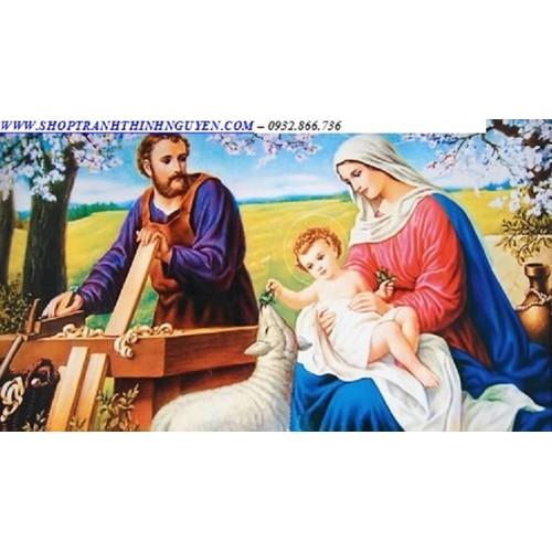 Tranh đính gia đình thánh gia -yn5340