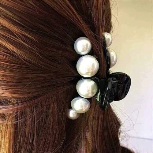 Kẹp tóc nhựa đính ngọc trai nhân tạo sang trọng - hàng loại 1