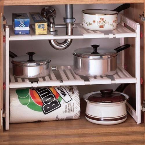 Kệ xếp để đồ nhà bếp 2 tầng đa năng