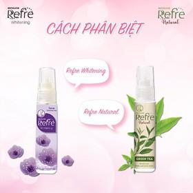 Xịt khử mùi dưỡng trắng Refre Whitening và Refre Natural 6ml - XITKHUMUI-REFRE-6ML