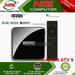 Android TV Box Mecool KM3 - Ram 4GB , 64GB ATV 9 Chính Chủ Google