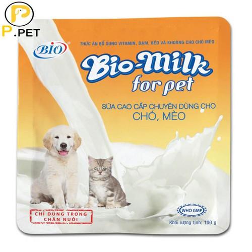 Sữa bột dinh dưỡng cho chó mèo bio-milk - sữa cao cấp dành cho chó mèo - p.petshop
