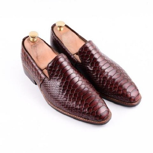 Giày da nam cao cấp - lex014 nâu