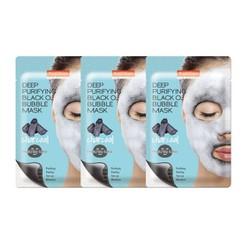 Combo 3 Mặt Nạ Sủi Bọt thải độc than hoạt tính PUREDERM Deep Purifying O2 Bubble Mask Charcoal