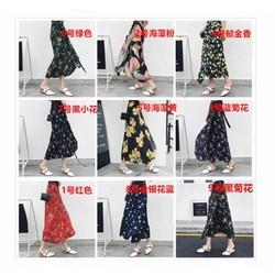 Chân váy voan đi biển inbox ảnh mẫu cho shop