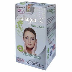 Collagen C type 1 2 3 hàng chính hãng Mỹ 60 viên giúp trẻ hoá làn da