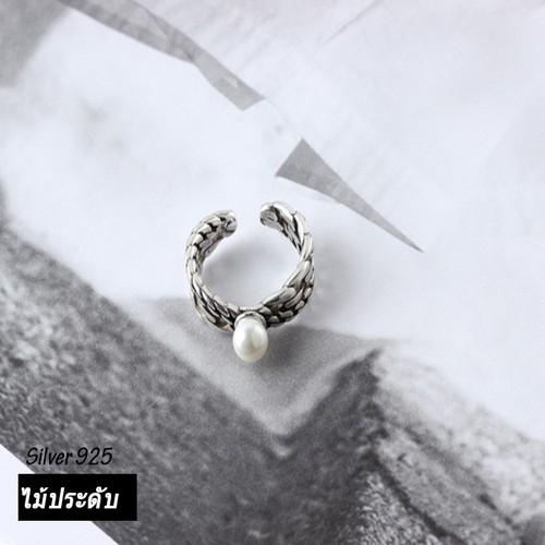 Nh076 nhẫn bạc thái 925 đính ngọc trai