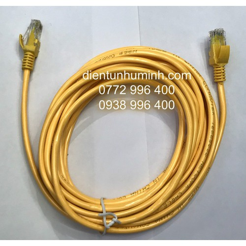 Dây cáp mạng lan internet bấm sẵn dài 5m chuẩn cat 5e màu vàng - 12739120 , 20637719 , 15_20637719 , 80000 , Day-cap-mang-lan-internet-bam-san-dai-5m-chuan-cat-5e-mau-vang-15_20637719 , sendo.vn , Dây cáp mạng lan internet bấm sẵn dài 5m chuẩn cat 5e màu vàng