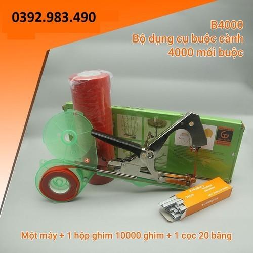 Dụng cụ buộc cành+ 10.000 ghim+ 20 cuộn băng buộc - b4000