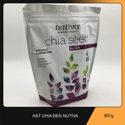 Hạt Chia Đen Organic Nutiva xách tay Mỹ HSD Mới Nhất