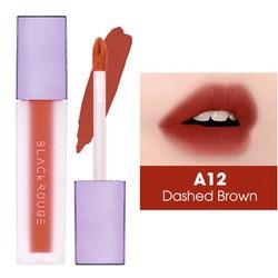 Son Kem Black Rouge Air Fit Velvet Tint Hàn Quốc Version 2 - A12: Dashed Brown: Đỏ nâu đất