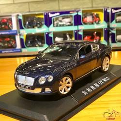 Mô hình xe ô tô Bentley GT W12 tỉ lệ 1:24 hãng Double Horses màu xanh đen