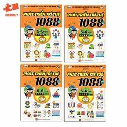 Bộ sách rèn luyện trí thông minh - 1088 Câu Đố Phát Triển Trí Tuệ 5-6 Tuổi - Bộ 4 cuốn