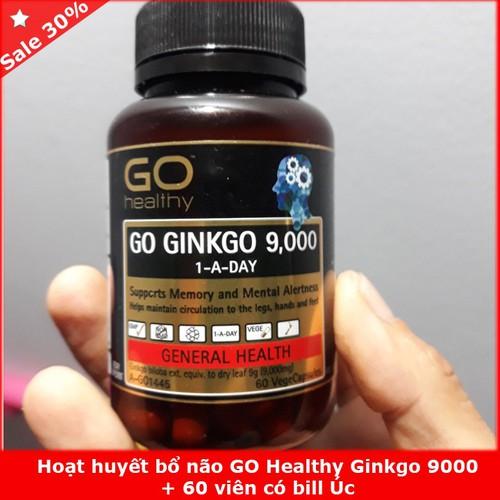 Hoạt huyết bổ não go healthy ginkgo 9000 60 viên