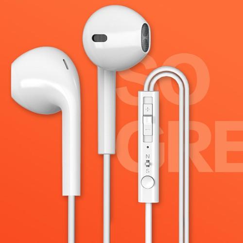 Tai nghe nhét tai byz cao cấp cho smart phone 389- jack 3.5mm âm thanh cực êm, cực sống động