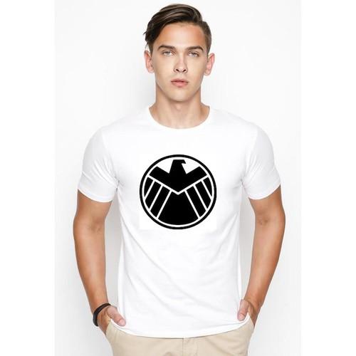 Áo thun nam cổ tròn in hình logo biệt đội shield phong cách hàn quốc hình in cực nét naa012