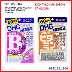 combo viên uống hỗ trợ tăng cân, kích thích ngon miệng DHC Nhật Bản