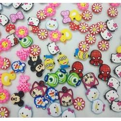 Bộ 20 sticker gắn dép sục crocs. cho bé trai và bé gái