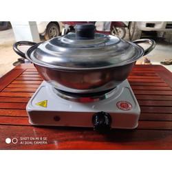 Bếp Điện Mini 1000w  - bếp điện mini tặng kèm nồi lẩu