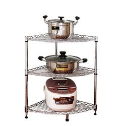 kệ 3 tầng-Kệ góc bếp inox 3 tầng 30x30x70-RE0382- kệ inox để góc bếp-giá inox 3 tầng- giá để đồ đa năng- giá inox