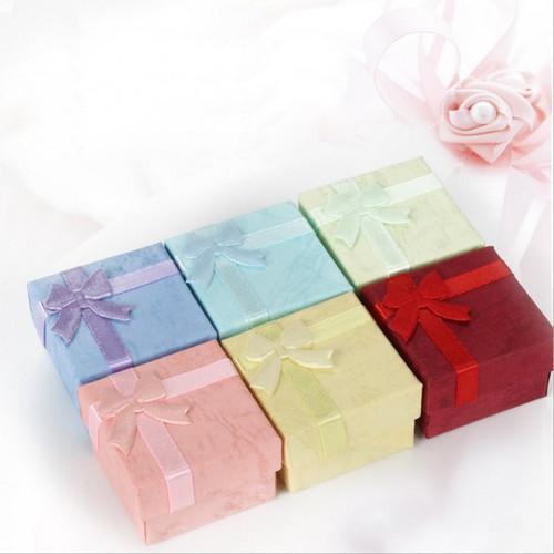 Bộ 3 hộp quà nhỏ có nơ 4 x 2.5 cm màu ngẫu nhiên bởi winwinshop88