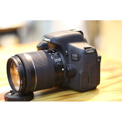 Máy ảnh canon 750d kem ống 18-55mm stm