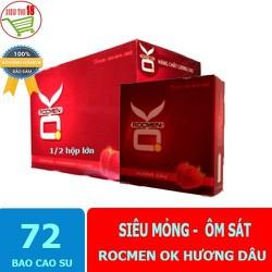 Bao cao su gia đình hộp lớn OK Rocmen Hương Dâu