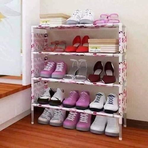 Kệ để giày dép 4 tầng họa tiết