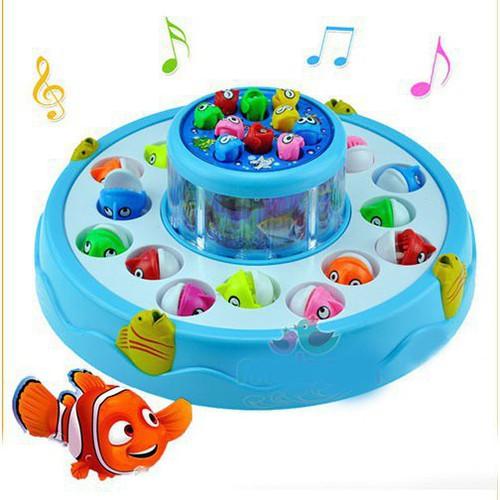 Đồ chơi câu cá điện tử 2 tầng có nhạc