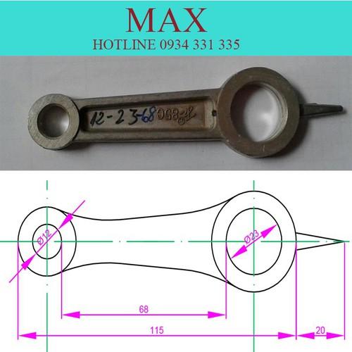 Tay biên máy nén khí kích thước 12-23-68