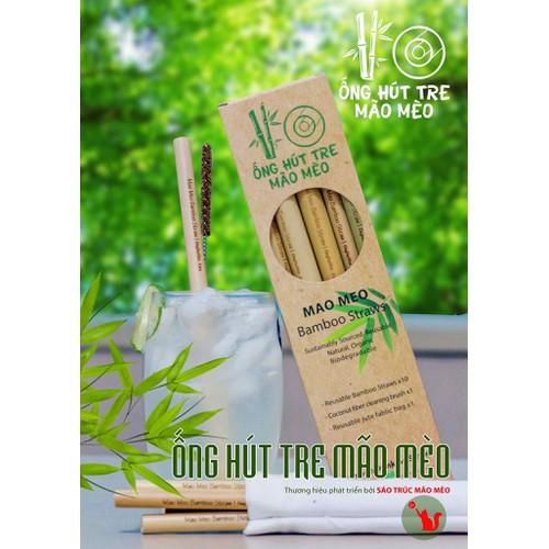 Organic: set 10 ống hút tre hoàn toàn từ thiên nhiên. vui lòng xem mô tả sản phẩm để biết thêm kích cỡ