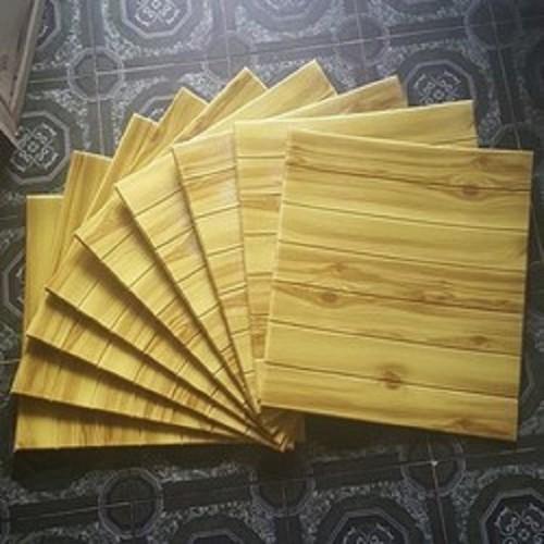 Com bo 10 tấm xốp dán tường giả gỗ 3d siêu hot