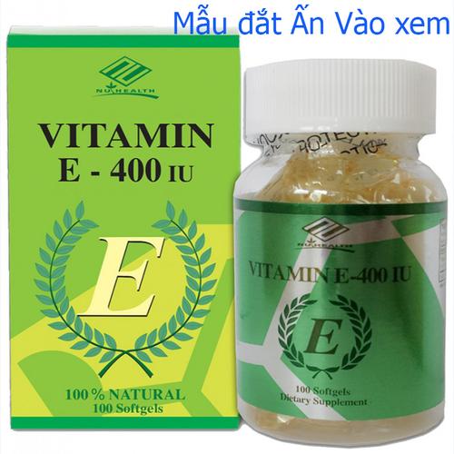 [ chính hãng ] vitamin e xóa nhăn natural vitamin e 400 iu polvita