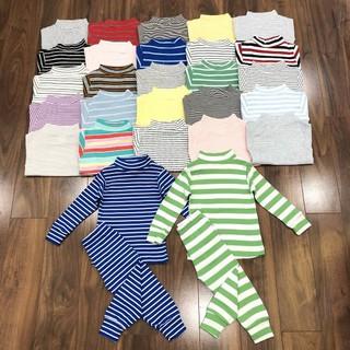 bộ cotton len dài tay bé trai bé gái - ctl thumbnail