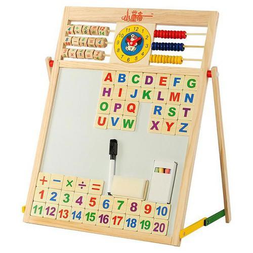 Bảng gỗ 2 mặt học chữ cái và số