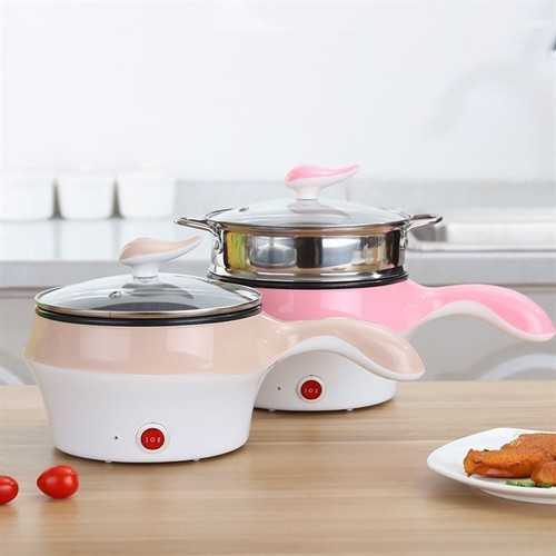 Ca nấu lẩu mini đa năng - ca nấu mì  - ca nấu mì 2 tầng đa năng