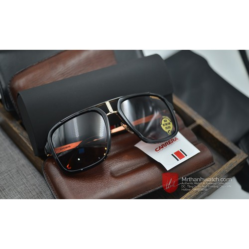 Kính râm carrera 1004s sunglasses black gold burgundy