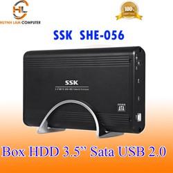 Box HDD 3.5inch SSK SHE056 sata USB 2.0 hỗ trợ ổ cứng lên đến 2TB