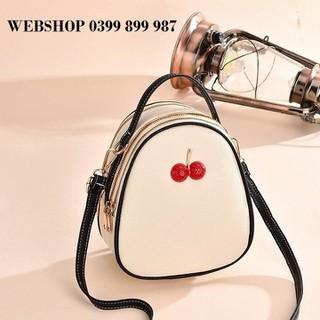 Balo đeo chéo cherry - Balo nữ thời trang - Balo đeo chéo nữ đẹp - BLBT110 thumbnail