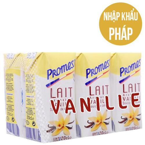 Sữa tươi promess hương vanilla 200ml ,date t3.2020 ,thùng 24 hộp