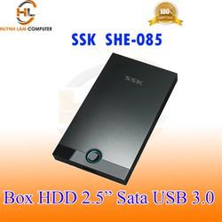 Box HDD 2.5INCH SSK SHE-085 Sata USB 3.0 5Gbps hỗ trợ ổ cứng lên đến 2TB